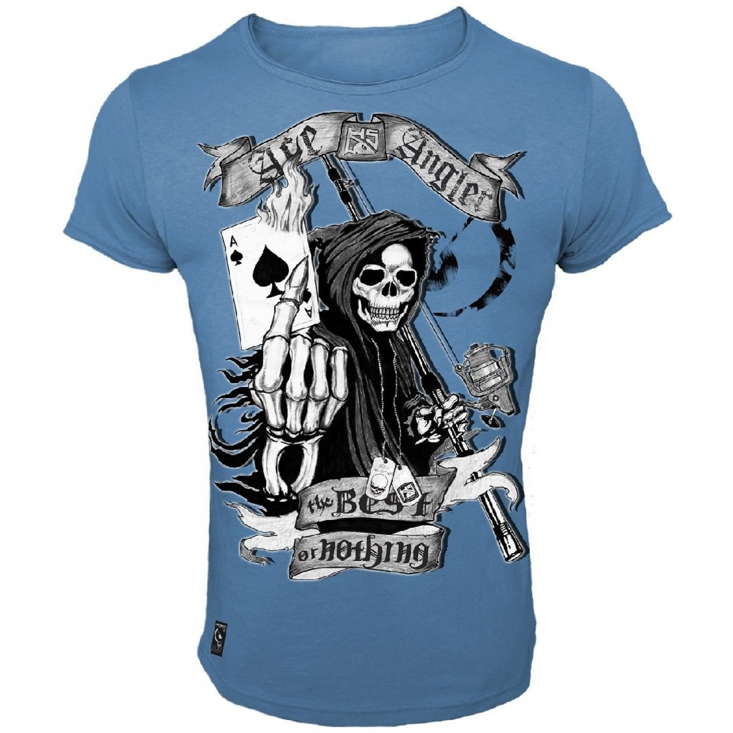 Skull Collection Hotspot Design T-Shirt Ace Angler Freizeitshirt