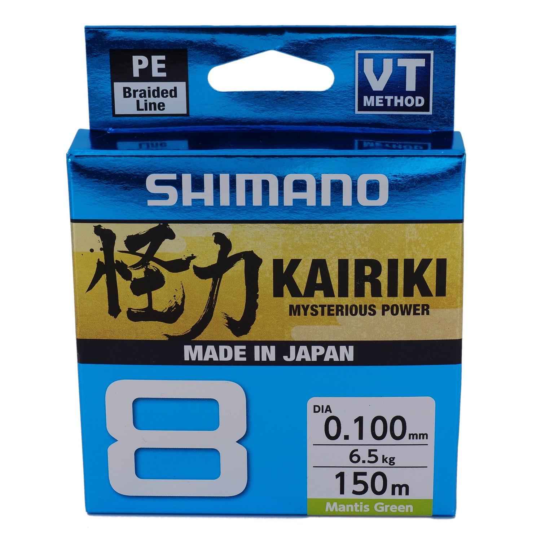 Shimano Kairiki Mysterious Power 8-Fach geflochten 150m Mantis Green