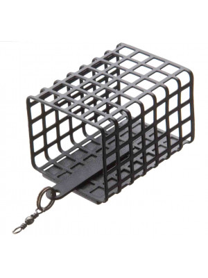 Cormoran Metal feeder square, lead free, 30x25mm, 44mm, 40g, for all applications