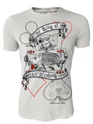 Hotspot Design Angler T-Shirt The King of Carpfishing, Poker Collection, Sz. M