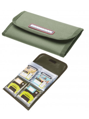 Cormoran Snelled Hook Bag Model 3025, Super practical and double-sided, 20 x 11.5cm