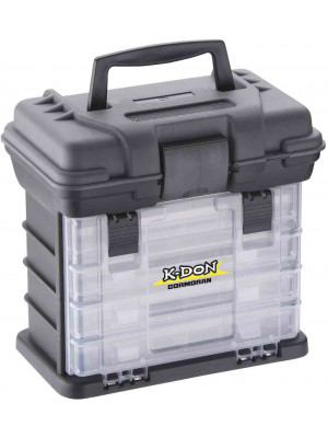 K-DON Tackle Box Model 1005, Compact, 28 x 18 x 27 cm