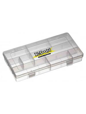 K-DON Tackle Box Model 1006, Small transparent lure box, 23 x 12 x 3.5cm