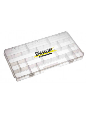 K-DON Tackle Box Model 1009, Big transparent lure box, 40 x 22 x 8cm