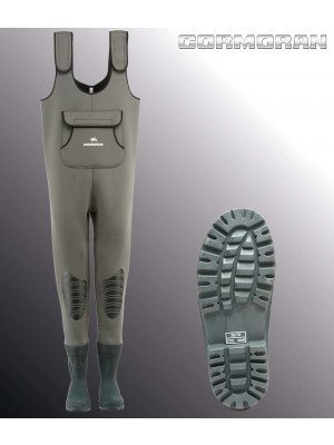 Cormoran Neoprene Chest Waders, with rubber boots / rubber sole