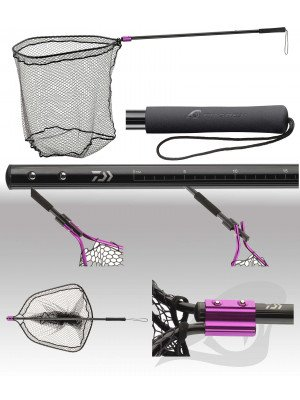 Daiwa Prorex Boat landing net, engraved measuring tape, water repellent silicone coating