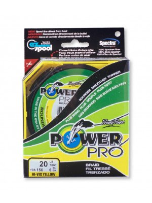 Power Pro Super Line 275m, yellow - braided fishing line