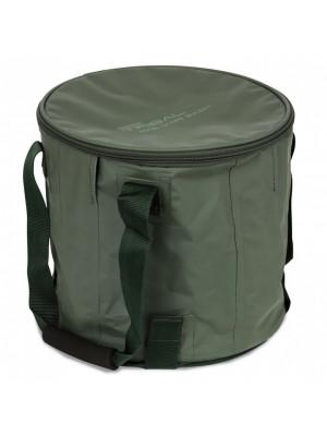 Shimano Tribal Aqua Scope Bucket, 29cm x 29cm, Foldable bait bucket bag